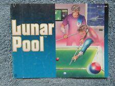 Lunar Pool manual - no game .... NES Nintendo