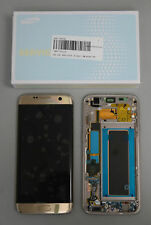 Display LCD Originale SAMSUNG Touch Screen + FRAME Per Galaxy S7 EDGE Gold g935f