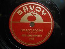 1945 Boogie Jazz/R&B 78 Pete Brown Quintette Pete Brown's Boogie on Savoy