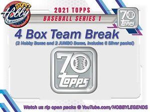 WASHINGTON NATIONALS 2021 Topps SERIES 1 JUMBO/HOBBY 4 BOX TEAM BREAK #8