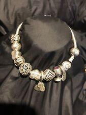 Genuine Pandora Silver Bracelet & Charms.  Goldmine Jewellers.