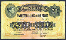 BILLET 20 Shilling or 1 Pound. East Africa. Nairobi, 01/09/1950 British Colonies