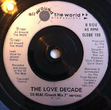 "Love Decade ‎– So Real  7"" Record for sale is a BLACK label DINKED COPY"