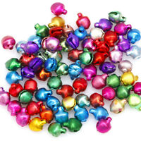 100/200 pcs Mixed-color Small Charms Jingle Bells DIY Decoration Jewelry Crafts