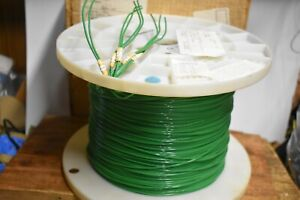 Mil-Spec Wire, M22759/11-14-5 TEFLON COATED Stranded Silver Plated 2410ft GREEN