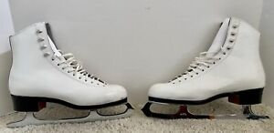 Ladies Reidell Ice Skates With Wilson Majestic Blades Size 7 Excellent Condition