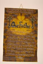"""Our Father Who Art In Heaven Prayer Wall Hanging Religious Christian 36""""x24"""""""