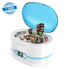 Aucma Ultrasonic Jewelry Cleaner Dental Glasses Coins Silver Cleaning Machine US