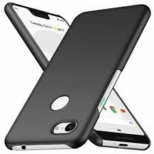 For Google Pixel 3a Case Ultra Slim Hard Back Cover - Matte Black