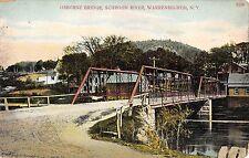Warrensburgh New York Osborne Bridge Schroon River c1910 Postcard