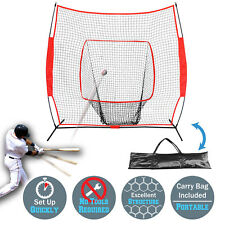 7'x7' Portable Baseball Net Soft Toss Cages Sport Play Indoor Outdoor Elevated
