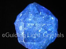 ONE POWERFUL & RARE NEW EMERALD INDIGO AURA HERKIMER DIAMOND QUARTZ CRYSTAL!