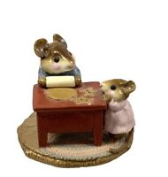 Wee Forest Folk WFF M115 Mom & Ginger Baker w/WFF box Baby Mouse Has Chip On Ear