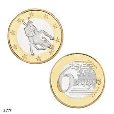 2PCS Sex 6 Euro Coins Collectible Coin Sexy Art Collection Souvenir Novelty Coin