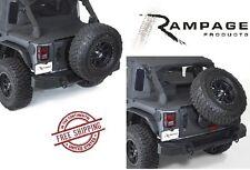 Rampage Rear Trailguard Bumper w/ Modular Tire Carrier 07-17 Jeep Wrangler JK