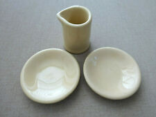 VINTAGE RESTAURANT WARE INDIVIDUAL CREAMER AND 2 BUTTER PATS