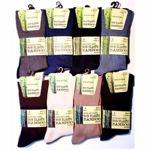 3 Pairs Mens Extra Wide Diabetic Summer Bamboo Socks Super Soft Loose Top Sock