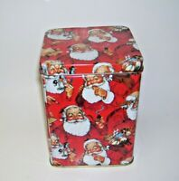 Vintage Santa Claus Tin Box
