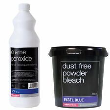 Salon Services Hair Creme Peroxide 12% 40 VOL 1 Litre With Blue Powder Bleach