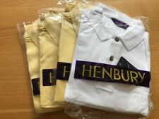 Men's Henbury Golf Shirt Sale. Size Large. 4 Shirts Yellow, White