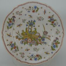 Vintage French Faience Plate with Birds Inside Basket/ Wall Plate/ Home Decor