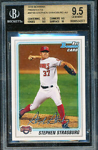 2010 BOWMAN STEPHEN STRASBURG RC BGS 9.5 TRUE GEM PLUS