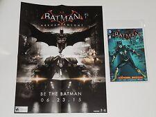 SDCC 2015 ARKHAM KNIGHT Promo Poster & BATMAN Batgirl COMIC Exclusive COMIC-CON