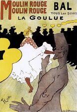 Art Deco Print  Moulin Rouge Famous Lautrec Poster
