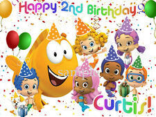 BUBBLE Guppies Edible ICING Image Birthday CAKE Topper Decoration