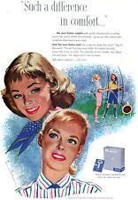 Jon Whitcomb Kotex Napkin & Belt ARCHERY Archers DIFFERENCE IN COMFORT 1952 Ad