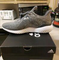 New sz 9 Mens Adidas Alphabounce Running Shoes Training Gray Grey