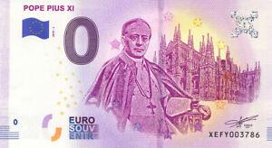 ALLEMAGNE Salzgitter, Série de 6 Papes, Mêmes N°, Billets Euro Souvenir