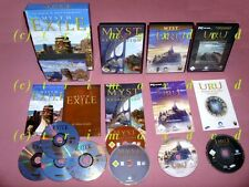4x PC _ MYST III EXILE & Myst IV Revelation & URU AGES BEYOND MYST & The Path...