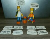 Mattel The Simpsons -  Bart & Homer with 5 Cool Things to Say  1990