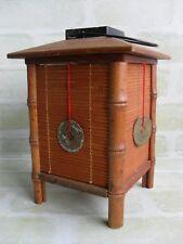Vintage Asian Style Wooden Cane - Tealight Candle Hanging Tea Light Lantern