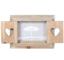 Drift Wood Frame With Shutter Photo Picture Rustic Shabby Chic Heart Quirky