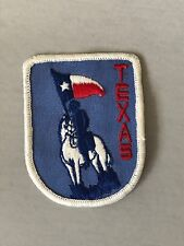 Texas patch, state of Texas patch, cowboy on horse patch, sew in patch, red blue