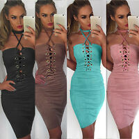 Sexy Women Summer Bandage Bodycon Sleeveless Strapless Party Cocktail Mini Dress