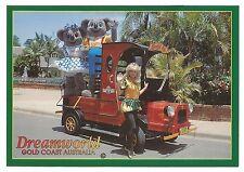QLD - c1990s POSTCARD - KENNY KOALA, BELINDA BEAR & THE GUMNUT FAIRY, DREAMWORLD