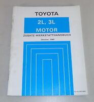 Zusatz-Werkstatthandbuch Toyota Motor 2 L/3 L For Crown + Hiace + 4Runner