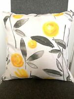 "Ochre Eden Floral Cushion-Cover 16"" Matches Next Bedding Curtains"