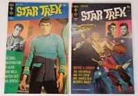 Lot Of 2 Vintage 1971 Gold Key Comics Star Trek Issue #9 #10 Spock Kirk 15 Cent