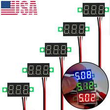 5x Mini Voltmeter DC 0-30V Digital LED Display 3 Wire Voltage Meter Blue