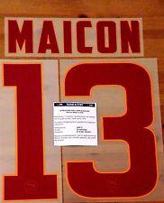 2014-15 como Roma lejos Camisa Maicon #13 conjunto de número de nombre oficial stilscreen