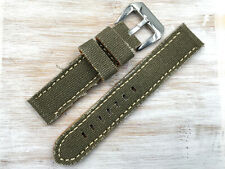 Nuevo Correa Lorica Verde Militar Medidas 20mm/18mm Estilo Vintage Unisex