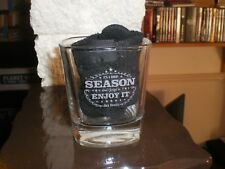 JACK DANIELS WHISKEY TENNESSEE OLD NUMBER 7 GLASS ITS A SHORT SEASON ENJOY IT