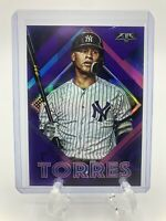 2020 Topps Fire Gleyber Torres Purple #'d 99/99 SP New York Yankees And Base