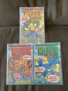 The Return Of Megaton Man 1-3 Complete Set Run Kitchen Sink Comix Comics