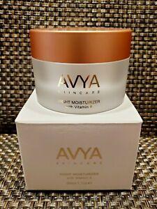 AVYA Night Moisturizer with Vitamin A. Full size 1.7 oz. Sealed. MRP $95