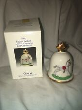 1991 Goebel Bell Rocking Horse Eighth Edition Christmas Bell Ornament Hummel